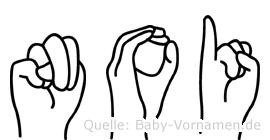 Noi in Fingersprache für Gehörlose