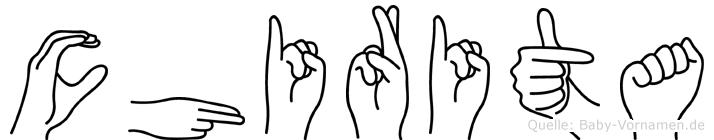 Chirita in Fingersprache für Gehörlose
