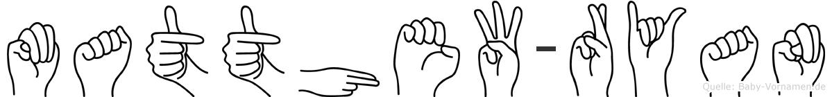 Matthew-Ryan im Fingeralphabet der Deutschen Gebärdensprache