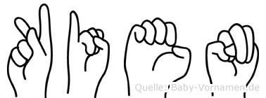 Kien im Fingeralphabet der Deutschen Gebärdensprache