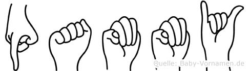Pammy im Fingeralphabet der Deutschen Gebärdensprache