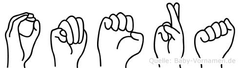 Omera in Fingersprache für Gehörlose