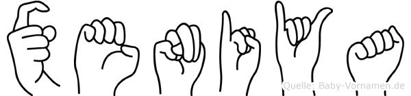 Xeniya in Fingersprache für Gehörlose
