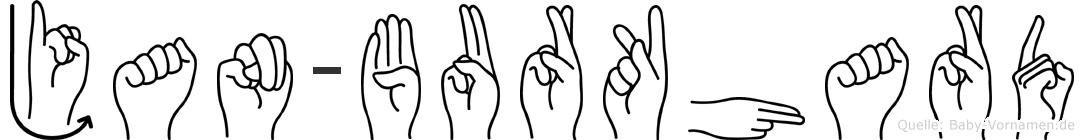Jan-Burkhard im Fingeralphabet der Deutschen Gebärdensprache