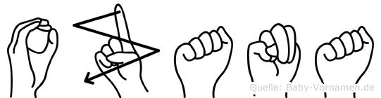 Ozana in Fingersprache für Gehörlose