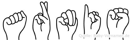 Arnis im Fingeralphabet der Deutschen Gebärdensprache