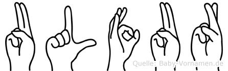 Ulfur in Fingersprache für Gehörlose
