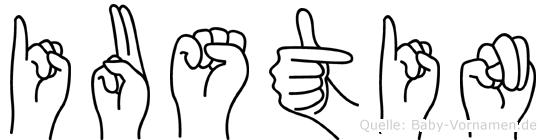 Iustin in Fingersprache für Gehörlose