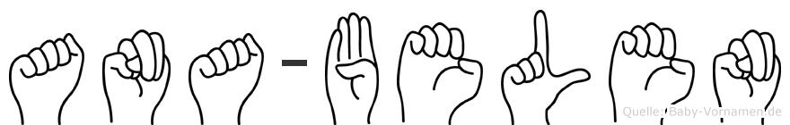 Ana-Belen im Fingeralphabet der Deutschen Gebärdensprache