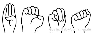 Bena im Fingeralphabet der Deutschen Gebärdensprache