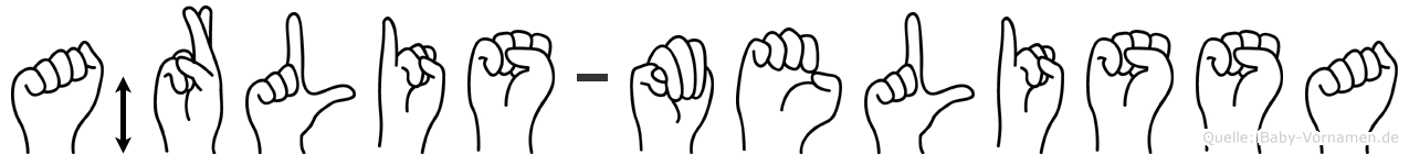 Ärlis-Melissa im Fingeralphabet der Deutschen Gebärdensprache