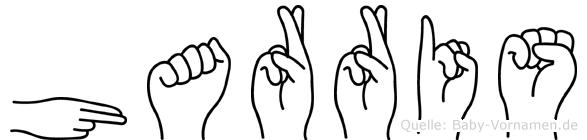 Harris im Fingeralphabet der Deutschen Gebärdensprache