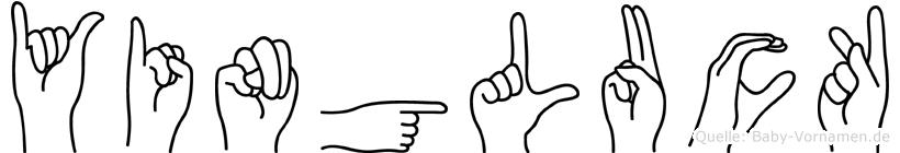 Yingluck im Fingeralphabet der Deutschen Gebärdensprache