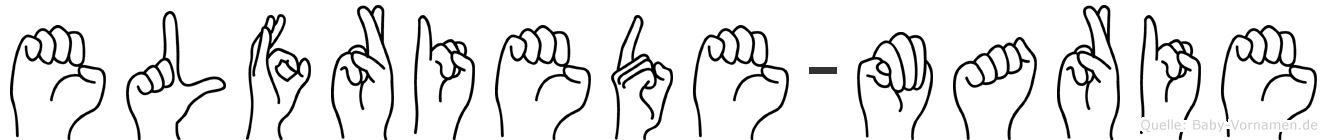 Elfriede-Marie im Fingeralphabet der Deutschen Gebärdensprache