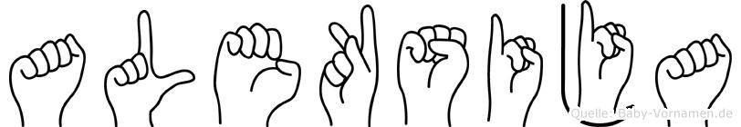 Aleksija in Fingersprache für Gehörlose