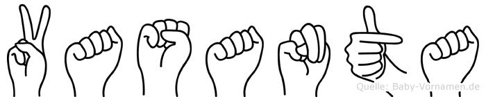 Vasanta im Fingeralphabet der Deutschen Gebärdensprache