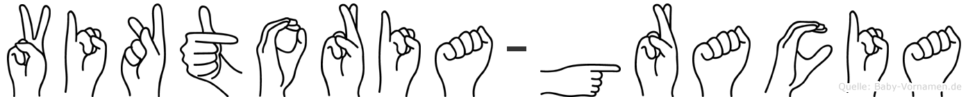 Viktoria-Gracia im Fingeralphabet der Deutschen Gebärdensprache
