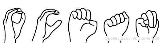 Ocean in Fingersprache für Gehörlose
