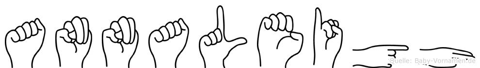 Annaleigh im Fingeralphabet der Deutschen Gebärdensprache