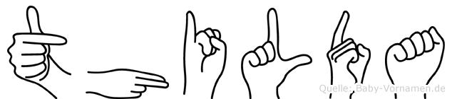 Thilda in Fingersprache für Gehörlose