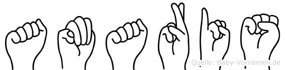 Amaris in Fingersprache für Gehörlose