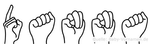 Danna im Fingeralphabet der Deutschen Gebärdensprache