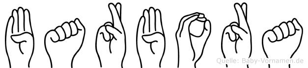 Barbora im Fingeralphabet der Deutschen Gebärdensprache