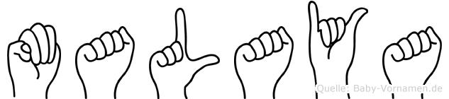 Malaya in Fingersprache für Gehörlose