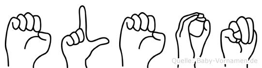 Eleon im Fingeralphabet der Deutschen Gebärdensprache