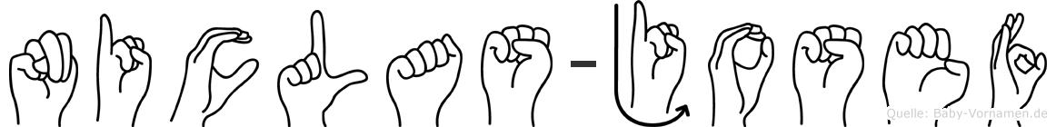 Niclas-Josef im Fingeralphabet der Deutschen Gebärdensprache