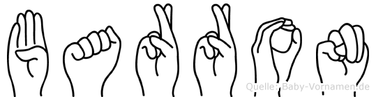Barron im Fingeralphabet der Deutschen Gebärdensprache
