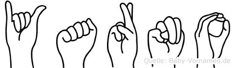 Yarno im Fingeralphabet der Deutschen Gebärdensprache