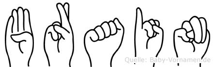 Brain in Fingersprache für Gehörlose