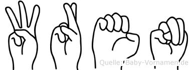 Wren in Fingersprache für Gehörlose