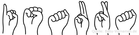 Isaura in Fingersprache für Gehörlose