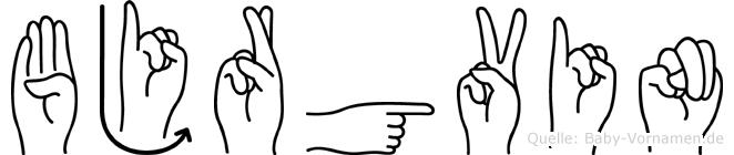 Björgvin in Fingersprache für Gehörlose