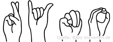 Ryno in Fingersprache für Gehörlose