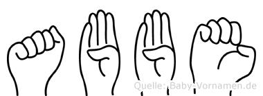 Abbe in Fingersprache für Gehörlose