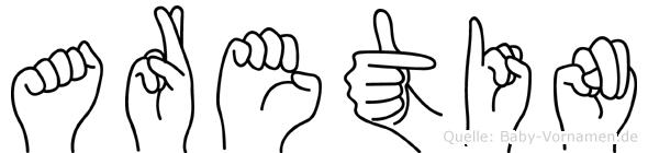 Aretin in Fingersprache für Gehörlose