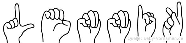 Lennik in Fingersprache für Gehörlose