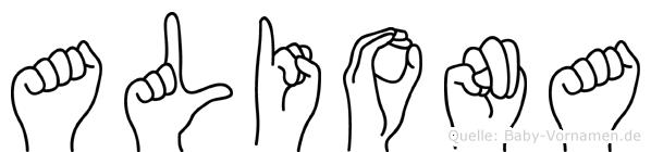 Aliona in Fingersprache für Gehörlose