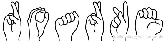 Roarke in Fingersprache für Gehörlose