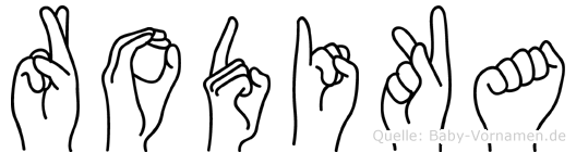 Rodika in Fingersprache für Gehörlose