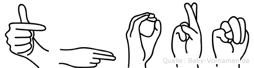Thorn in Fingersprache für Gehörlose