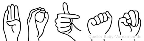 Botan in Fingersprache für Gehörlose