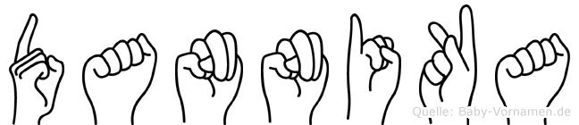 Dannika im Fingeralphabet der Deutschen Gebärdensprache