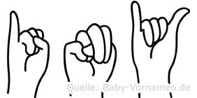 Iny im Fingeralphabet der Deutschen Gebärdensprache
