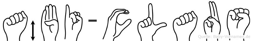 Äbi-Claus im Fingeralphabet der Deutschen Gebärdensprache