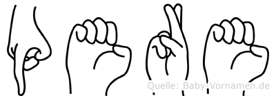 Pere in Fingersprache für Gehörlose