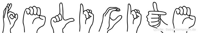 Felicite im Fingeralphabet der Deutschen Gebärdensprache